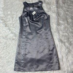 New Ann Taylor Loft shift dress sz 6 silver sequin